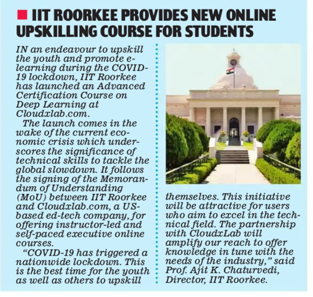 Date: 21st April 2020 Publication: Mai Today  Edition: New Delhi  Page: 10 Language: English