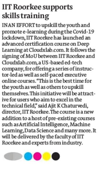 Date: 23rd April 2020 Publication: The Financial Express   Edition: Roorkee  Page: 09 Language: English